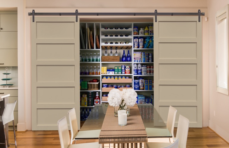 Sliding Barn Doors On A Cleveland Pantry