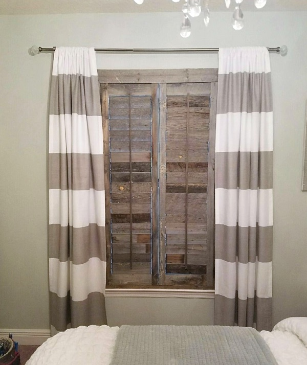 Cleveland reclaimed wood shutter bedroom