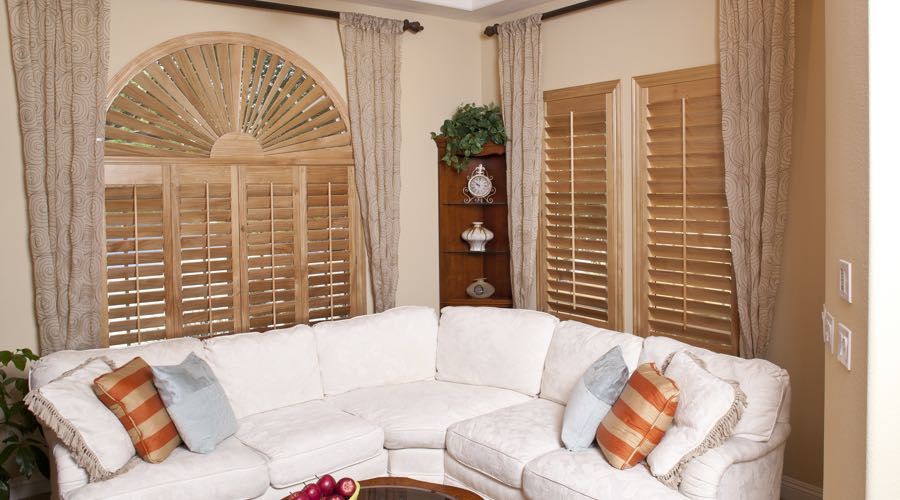 Ovation Wood Shutters In Cleveland Living Room
