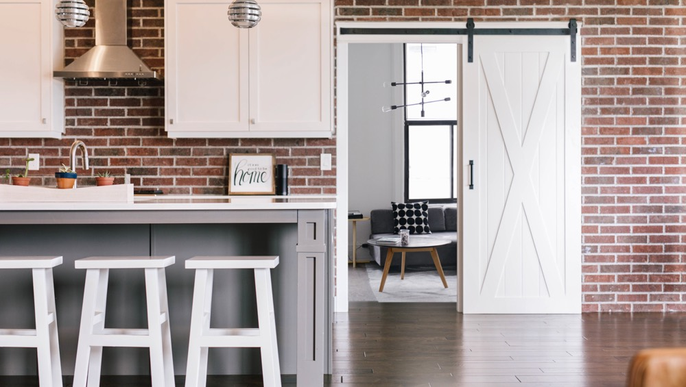 Cleveland brick wall barn door