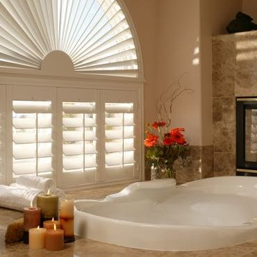 Cleveland bathroom privacy shutters.