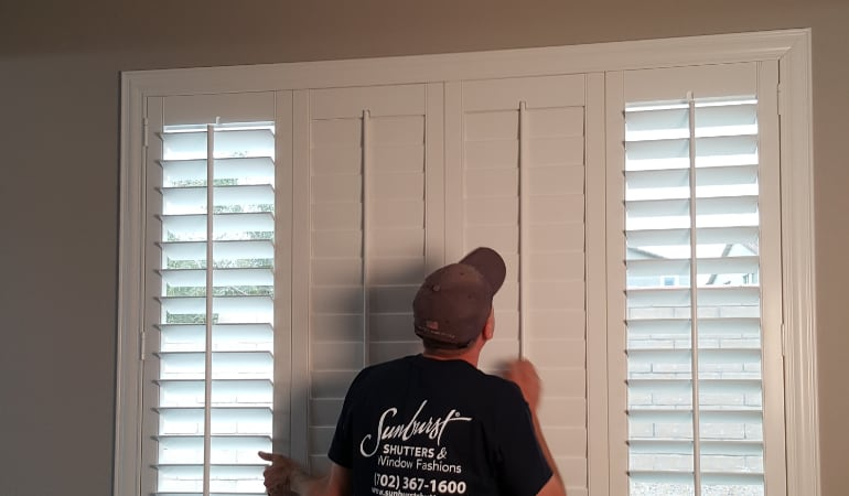 Installation of plantation shutters in Cleveland