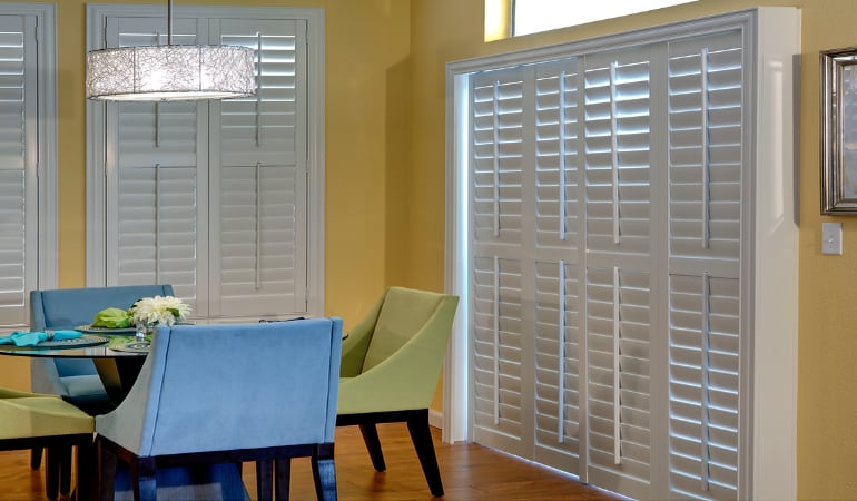 Patio Doors with Plantation Shutters in Cleveland