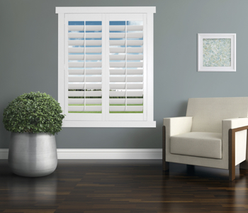 Polywood Shutters in Cleveland living room