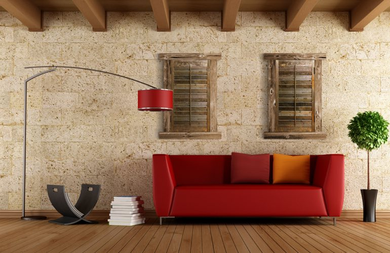 Reclaimed Wood Shutters In A Cleveland Living Room. - Reclaimed Wood Shutters For Sale Sunburst Shutters Cleveland, OH