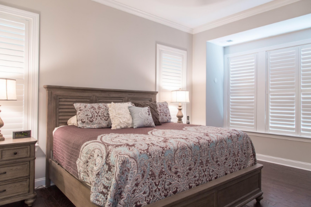 Cleveland bedroom with light block shutters