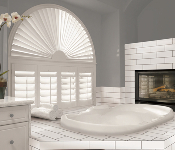 Shutters in Cleveland bathroom