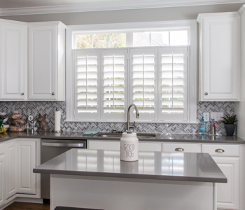 Shutters in Cleveland kitchen