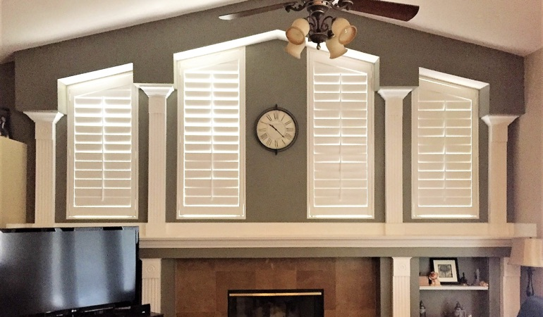 Polywood Shutters in Family Room in Cleveland