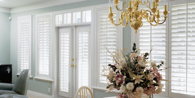 Cleveland sunroom polywood shutters