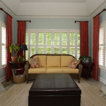 Cleveland sunroom polywood shutters.