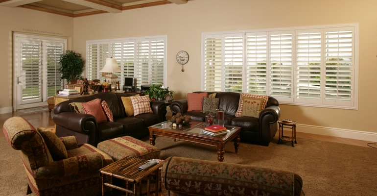 Cleveland basement with custom shutters.