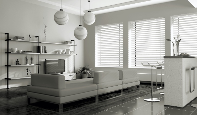white blinds in Cleveland