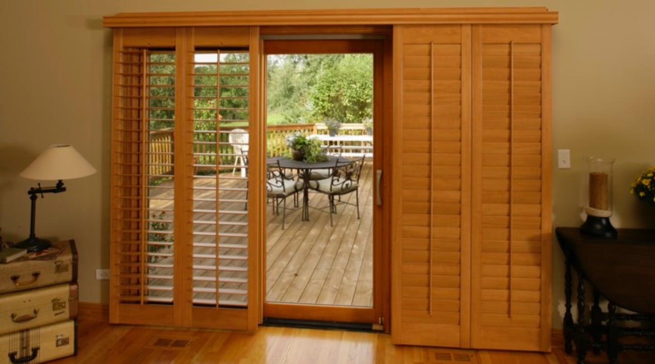 Sliding Glass Door Shutter In Cleveland