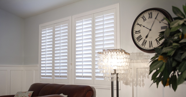 Cleveland living room indoor shutters