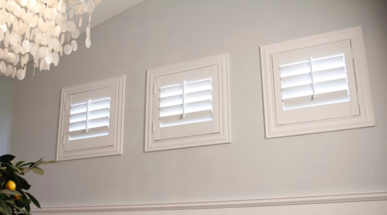 Cleveland casement window shutters