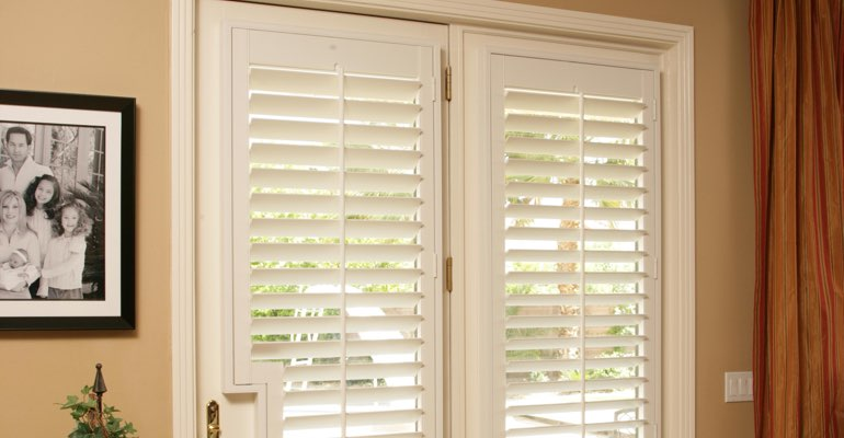 Cleveland french door white shutters