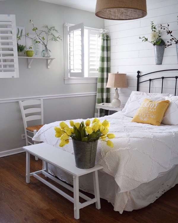 Cleveland cottage bedroom shutters