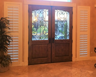 Cleveland sidelight window treatment shutter