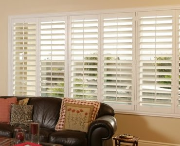 Cleveland wide window shutter living room